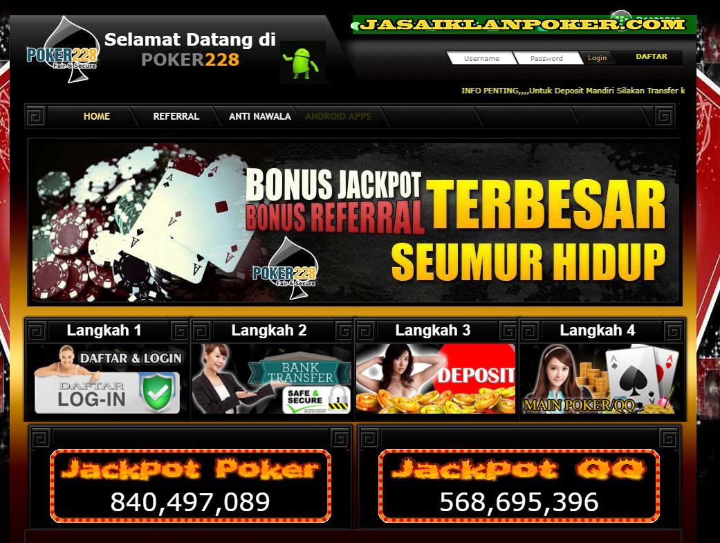 Daftar Poker228 Login Link Alternatif Poker 228 Terpercaya