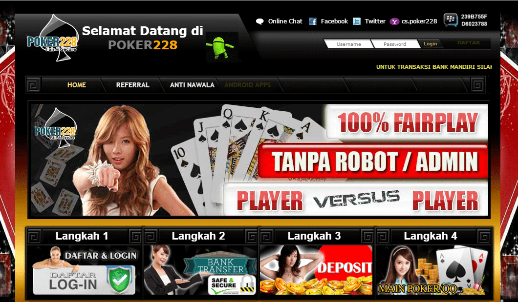 Daftar Poker228 Login Link Alternatif Poker 228
