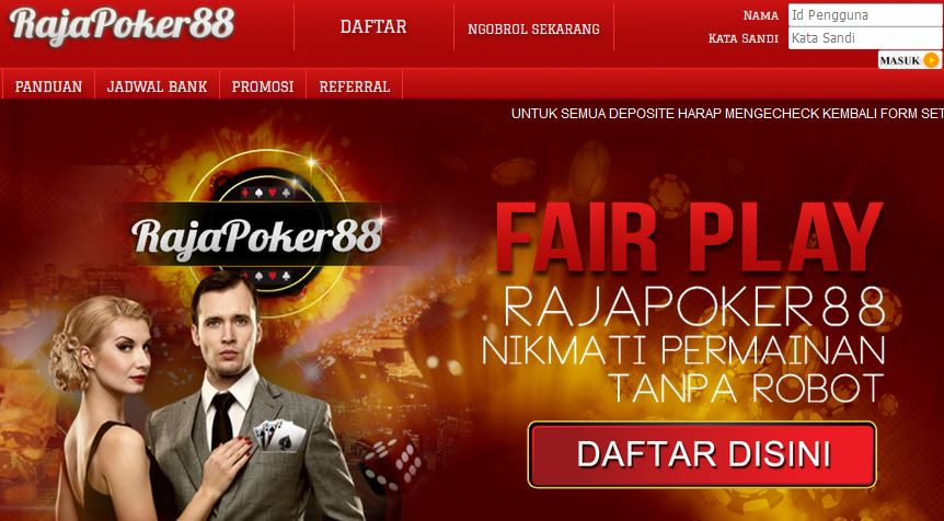 Daftar RajaPoker88 Login Link Alternatif Raja Poker88 Asia