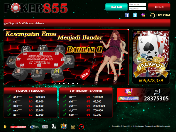 Daftar Poker855 Link Alternatif Poker 855 Online