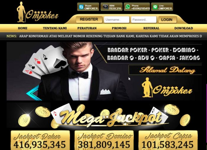 Daftar OmPoker Login Link Alternatif Om Poker Online